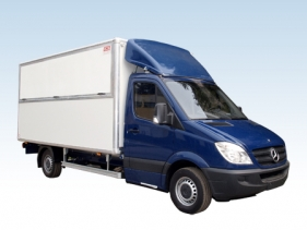 Catering body van for truck chassis